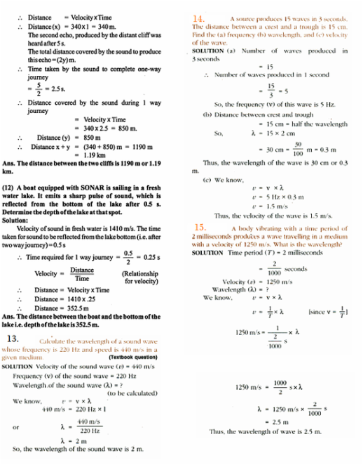 physics numericals for class 9 sound pdf