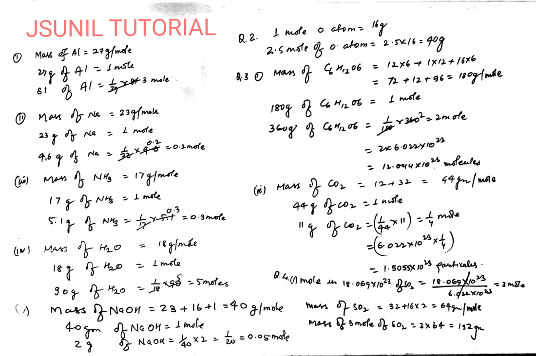 9th Numerical questions for MOLE Concept with solution ...